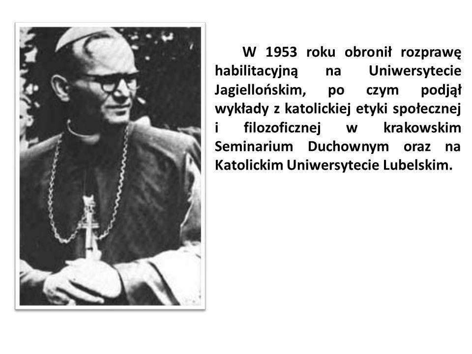 W 1953 roku obronił rozprawę habilitacyjną na Uniwersytecie Jagiellońskim, po czym podjął wykłady z katolickiej etyki społecznej i filozoficznej w kra
