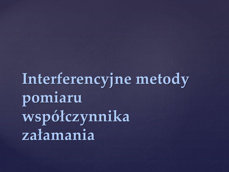 Interferencyjne metody pomiaru współczynnika załamania