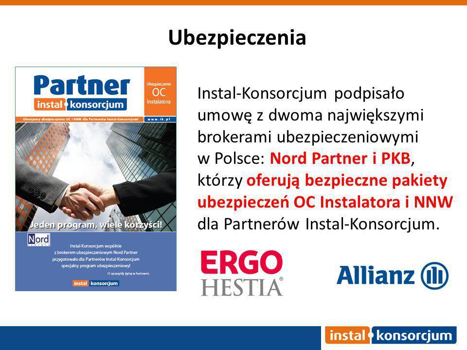 Instal-Konsorcjum podpisało umowę z dwoma największymi brokerami ubezpieczeniowymi w Polsce: Nord Partner i PKB, którzy oferują bezpieczne pakiety ubezpieczeń OC Instalatora i NNW dla Partnerów Instal-Konsorcjum.