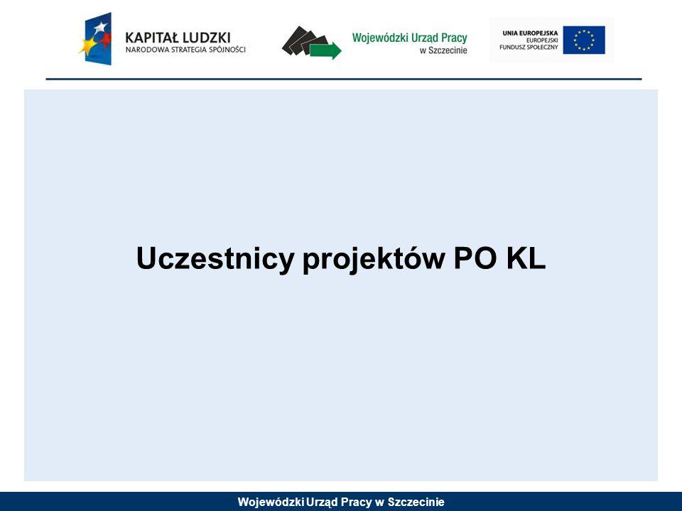 Wojewódzki Urząd Pracy w Szczecinie Uczestnicy projektów PO KL