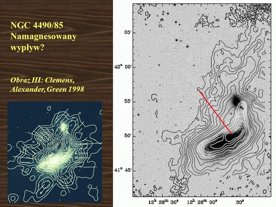 Obraz HI: Clemens, Alexander, Green 1998 NGC 4490/85 Namagnesowany wypływ?