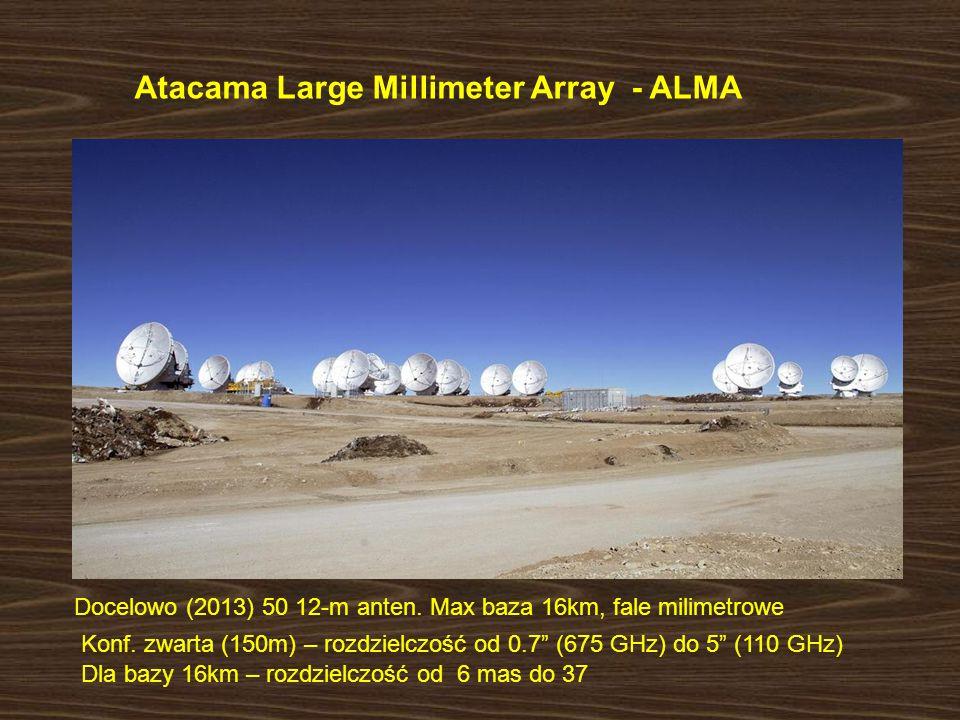 Atacama Large Millimeter Array - ALMA Docelowo (2013) 50 12-m anten.