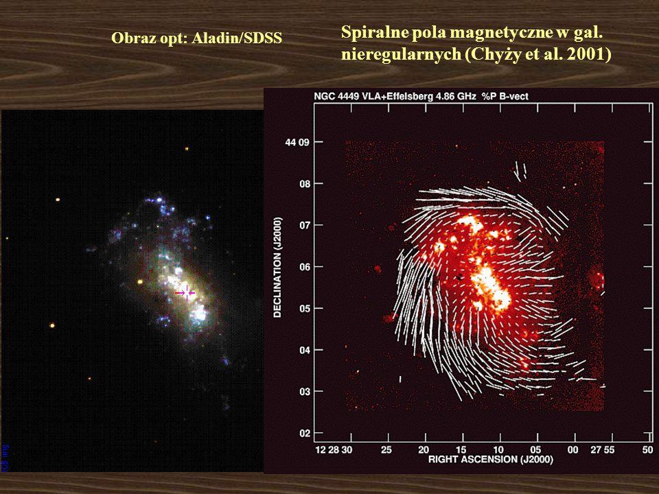 Spiralne pola magnetyczne w gal. nieregularnych (Chyży et al. 2001) Obraz opt: Aladin/SDSS