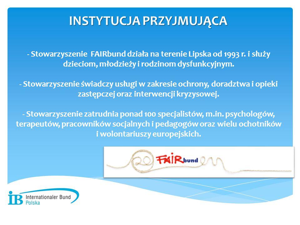 - Stowarzyszenie FAIRbund działa na terenie Lipska od 1993 r. i służy dzieciom, młodzieży i rodzinom dysfunkcyjnym. - Stowarzyszenie świadczy usługi w