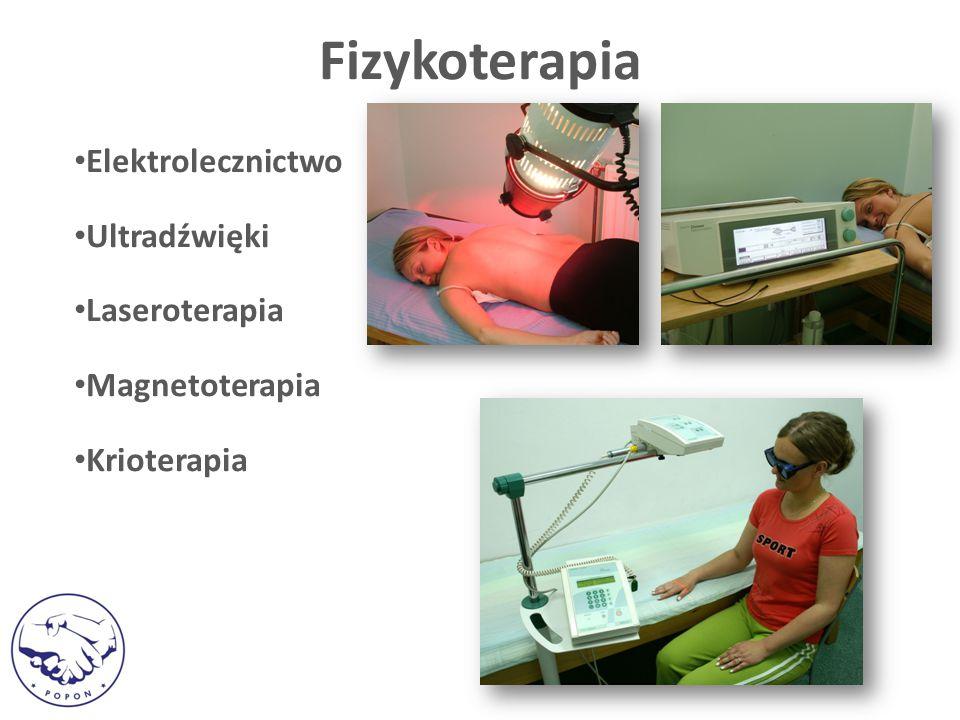 Elektrolecznictwo Ultradźwięki Laseroterapia Magnetoterapia Krioterapia Fizykoterapia