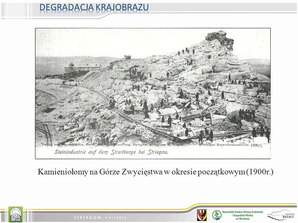 Kamieniołomy na Górze Zwycięstwa w okresie początkowym (1900r.)