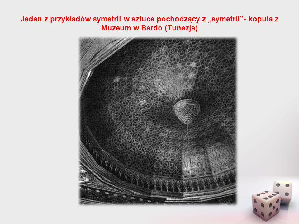 """Jeden z przykładów symetrii w sztuce pochodzący z """"symetrii""""- kopuła z Muzeum w Bardo (Tunezja)"""