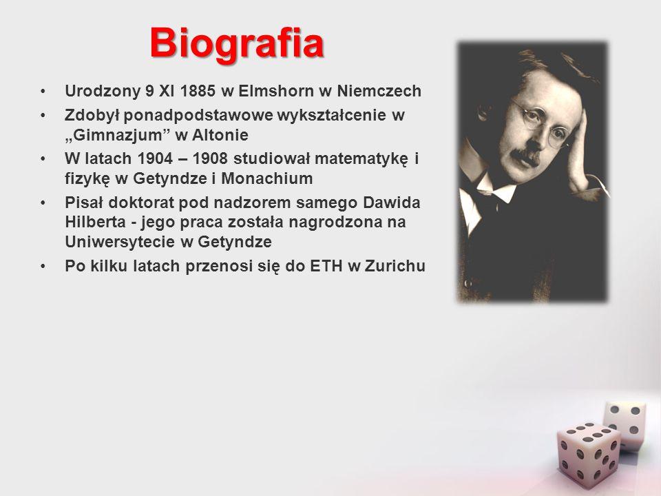 Biografia Zaczyna przyjaźnić się z Albertem Einsteinem i interesować jego teorią względności