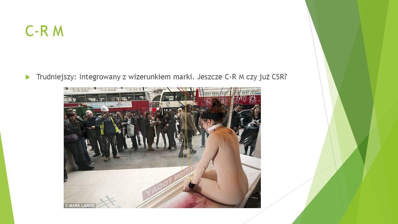 C-R M  Trudniejszy: Integrowany z wizerunkiem marki. Jeszcze C-R M czy już CSR?