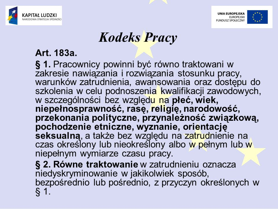 Kodeks Pracy Art.183a. § 1.