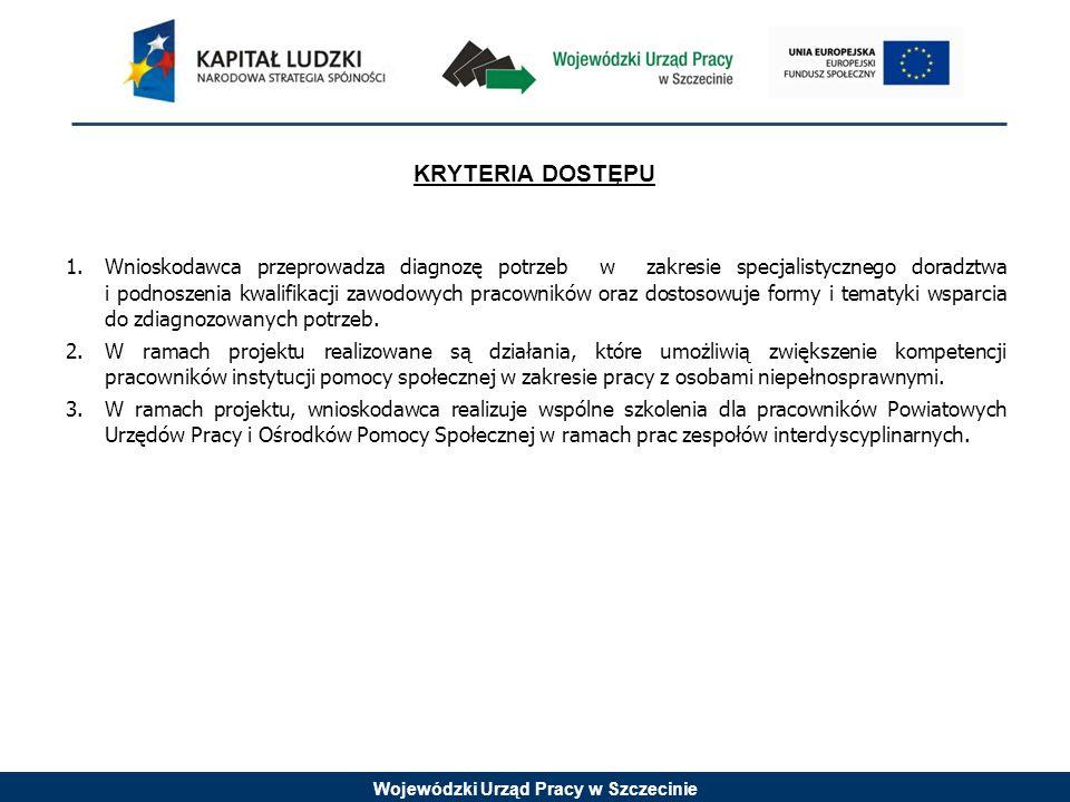 Wojewódzki Urząd Pracy w Szczecinie PROMOCJA INTEGRACJI SPOŁECZNEJ (PROJEKTY KONKURSOWE) PRIORYTET VII