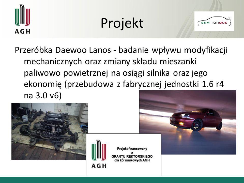 Przeróbka Daewoo Lanos - badanie wpływu modyfikacji mechanicznych oraz zmiany składu mieszanki paliwowo powietrznej na osiągi silnika oraz jego ekonom