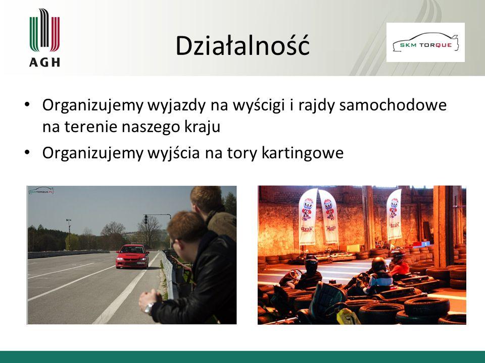 Organizujemy wyjazdy na wyścigi i rajdy samochodowe na terenie naszego kraju Organizujemy wyjścia na tory kartingowe Działalność