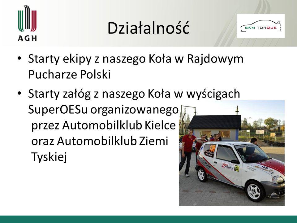 Starty ekipy z naszego Koła w Rajdowym Pucharze Polski Starty załóg z naszego Koła w wyścigach SuperOESu organizowanego przez Automobilklub Kielce ora