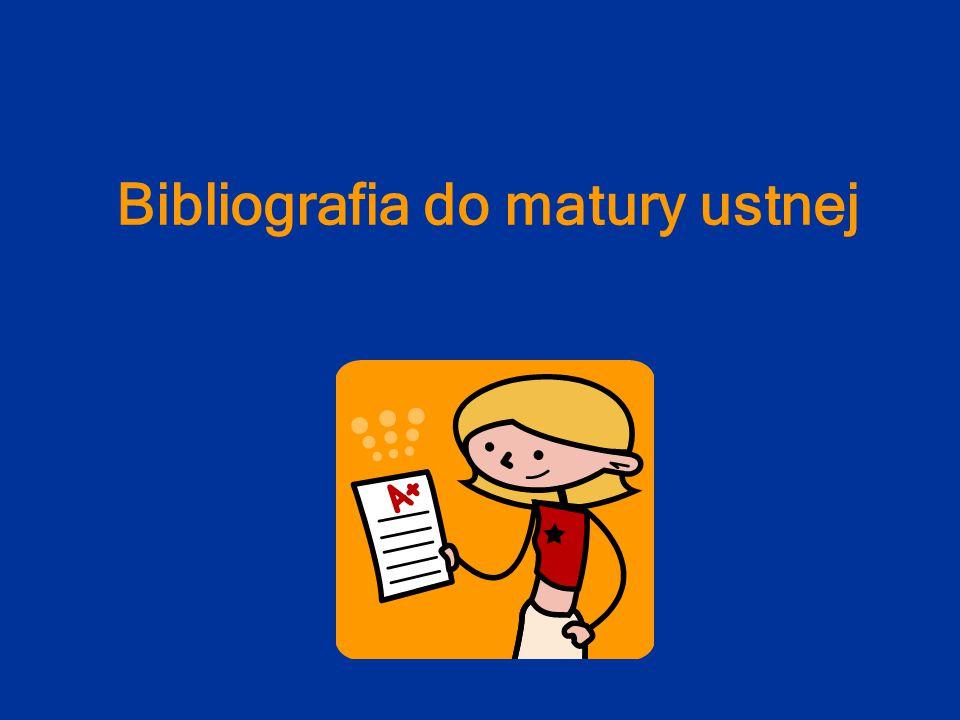 Bibliografia do matury ustnej
