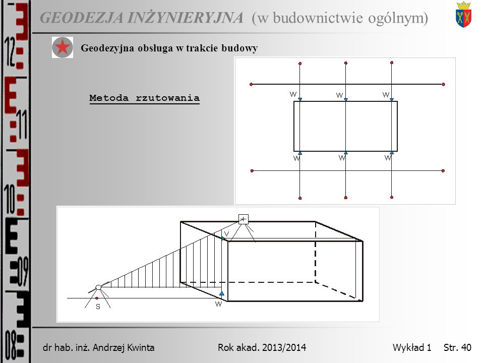 GEODEZJA INŻYNIERYJNA Rok akad.2013/2014dr hab. inż.
