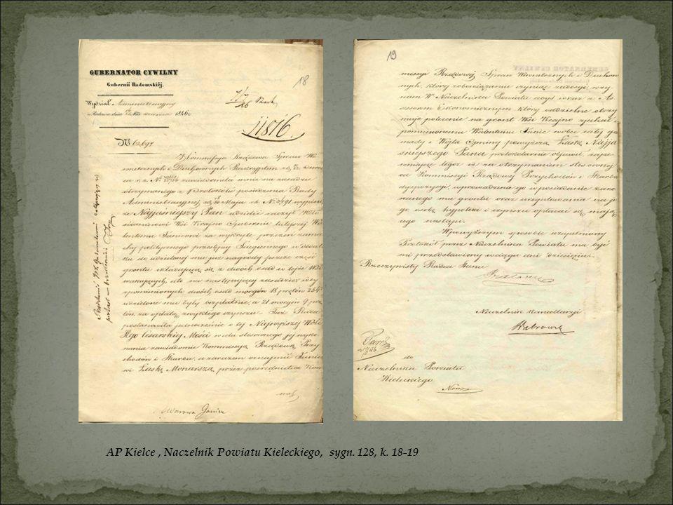 AP Kielce, Naczelnik Powiatu Kieleckiego, sygn. 128, k. 18-19