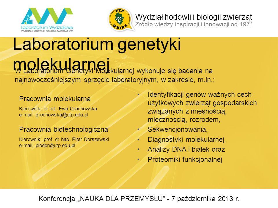 Pracownia Oceny Surowców Pochodzenia Zwierzęcego i Paszowego Pracownia Oceny Wartości Biologicznej Jaj Kierownik: prof.