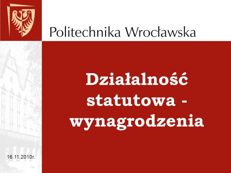 Działalność statutowa - wynagrodzenia 16.11.2010r.