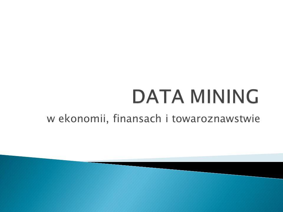 """ spotykane określenia: zgłębianie danych, eksploracyjna analiza danych, """"przekopywanie danych, """"męczenie danych  proces wykrywania zależności w zbiorach danych poprzez połączenie metod statystyki i sztucznej inteligencji (AI) z zarządzaniem bazami danych  przejście od (obszernych) danych surowych do wiedzy (Knowledge Discovery in Databases - KDD) 2"""