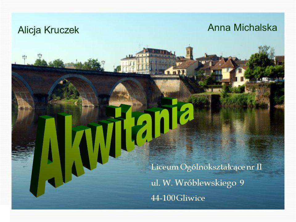 Alicja Kruczek Anna Michalska Liceum Ogólnokształcące nr II ul. W. Wróblewskiego 9 44-100 Gliwice