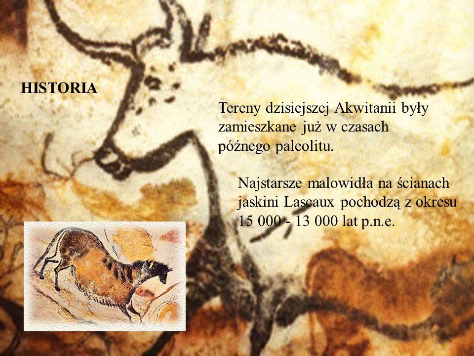 Tereny dzisiejszej Akwitanii były zamieszkane już w czasach późnego paleolitu. Najstarsze malowidła na ścianach jaskini Lascaux pochodzą z okresu 15 0