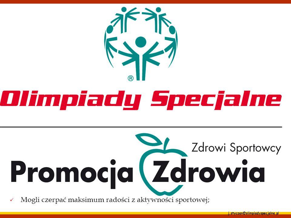 """j.styczen@olimpiadyspecjalne.pl Promocja Zdrowia – promowanie zdrowych postaw Jest integralną częścią szerszego programu badawczo-edukacyjnego """"Zdrowi"""