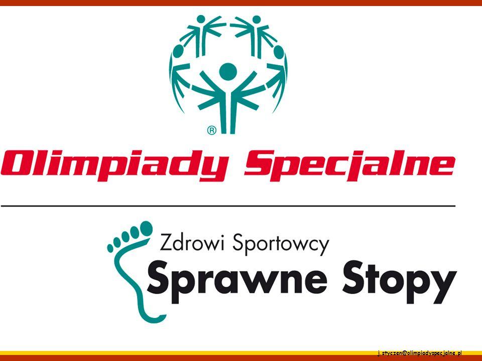 j.styczen@olimpiadyspecjalne.pl Sprawne Stopy – schorzenia stóp, kolan, dermatologia, dobór obuwia; Ocena kończyn dolnych zawodnika Olimpiad Specjalny