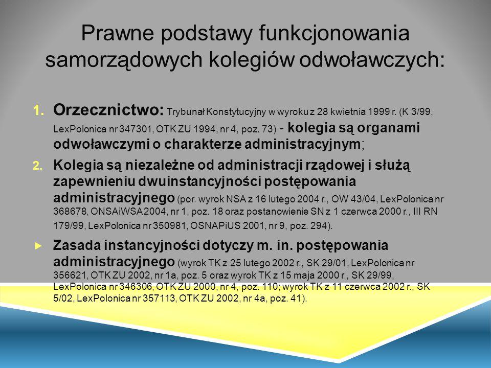 Terenowe Organy Kontroli Instancyjnej Wojewoda SKO * JST: gmina, powiat, województwo Źródła: opracowanie własne