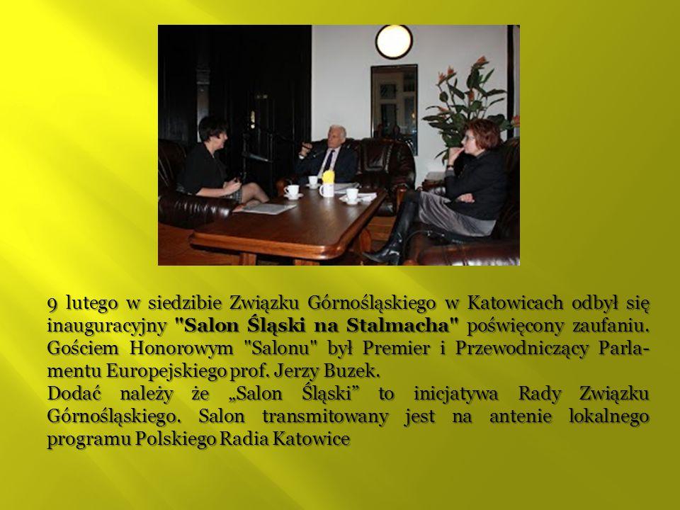 9 lutego w siedzibie Związku Górnośląskiego w Katowicach odbył się inauguracyjny Salon Śląski na Stalmacha poświęcony zaufaniu.