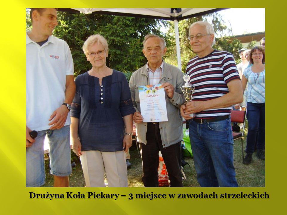 Drużyna Koła Piekary – 3 miejsce w zawodach strzeleckich