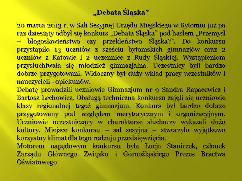 Debata Śląska w sali UM w Bytomiu