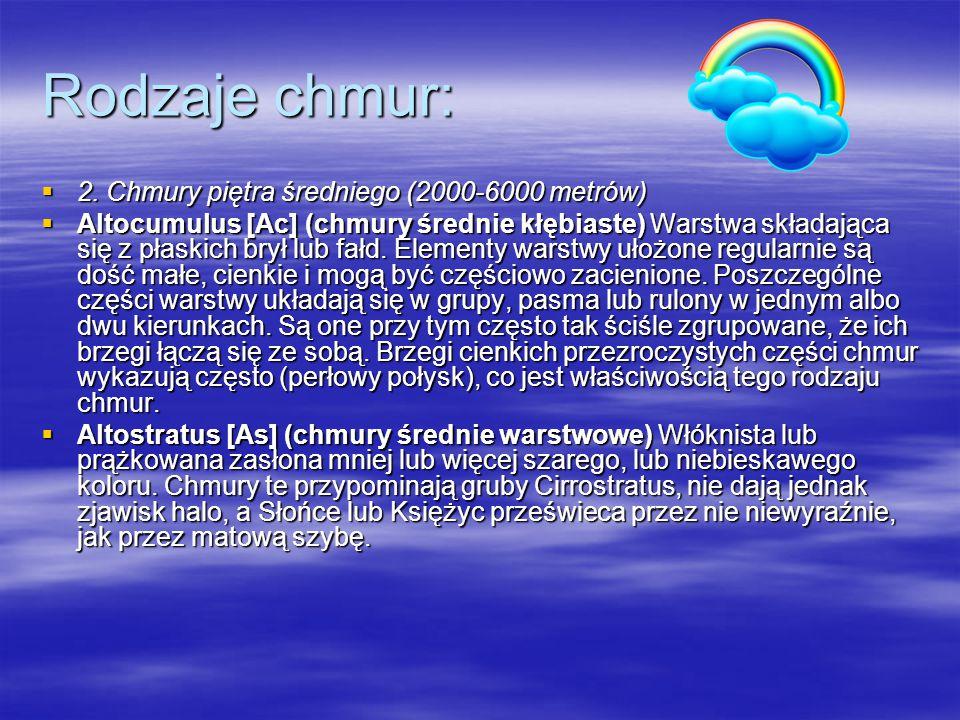 Rodzaje chmur:  2.