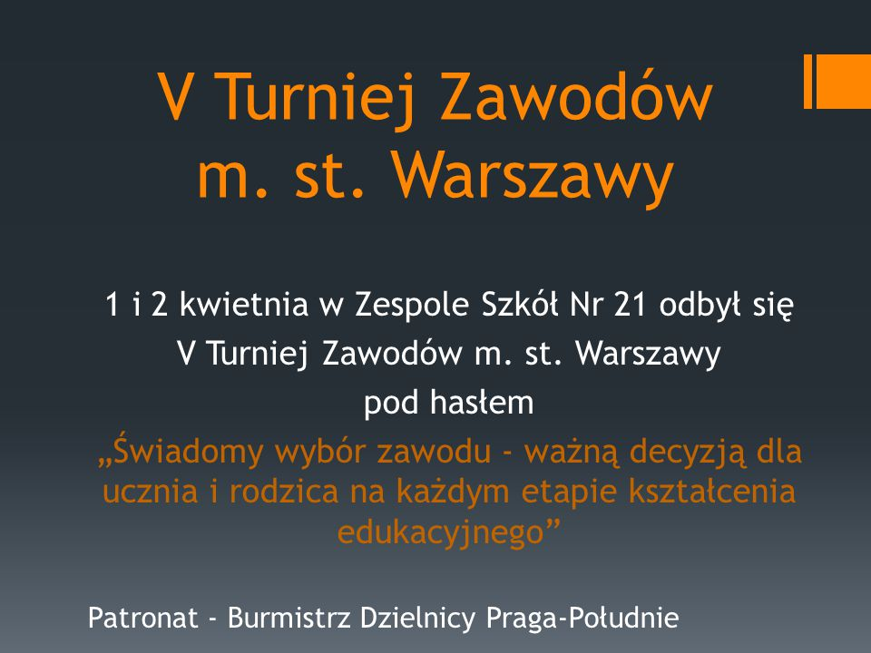 V Turniej Zawodów m. st.