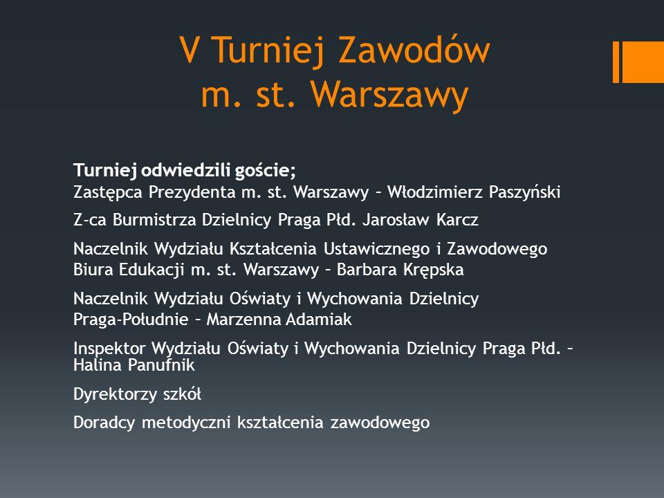 V Turniej Zawodów m. st. Warszawy Turniej odwiedzili goście; Zastępca Prezydenta m.