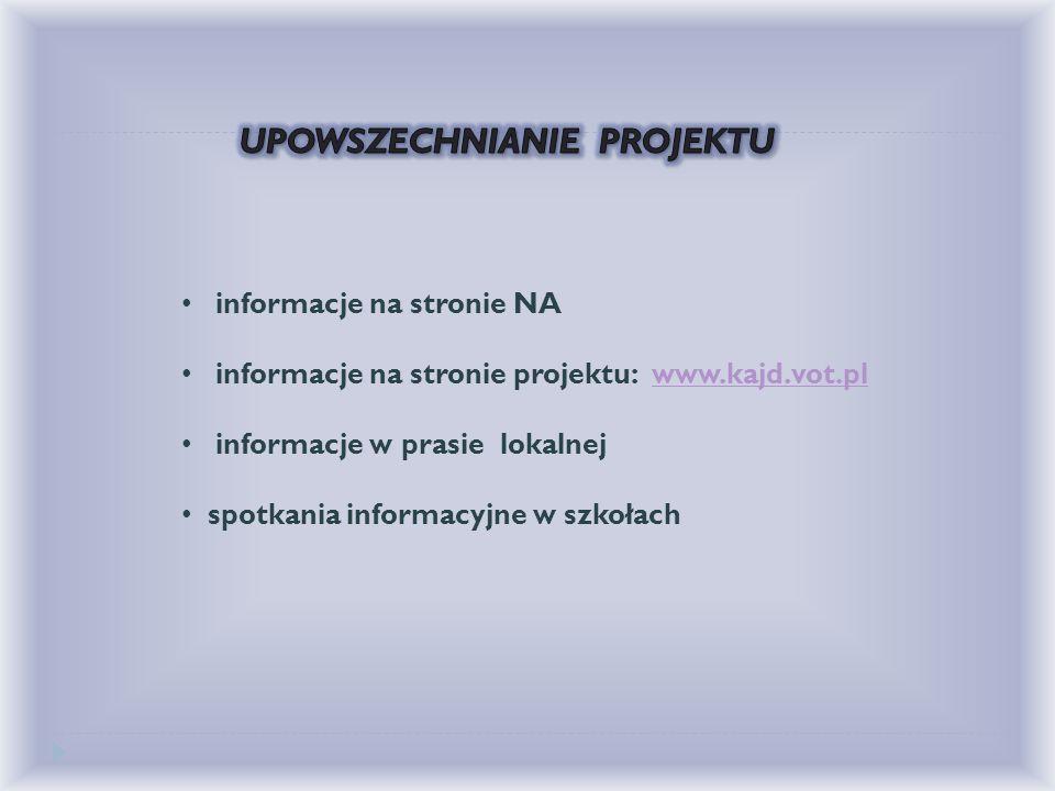 """""""interszkolny"""" zespół nauczycieli współpracujący po zamknięciu projektu strona projektu: www.kajd.vot.plwww.kajd.vot.pl kontakty międzynarodowe – zapr"""