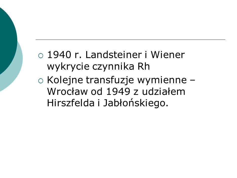 Pierwsza w Polsce transfuzja wewnątrzmaciczna  1969r. – dr D.Łozińska