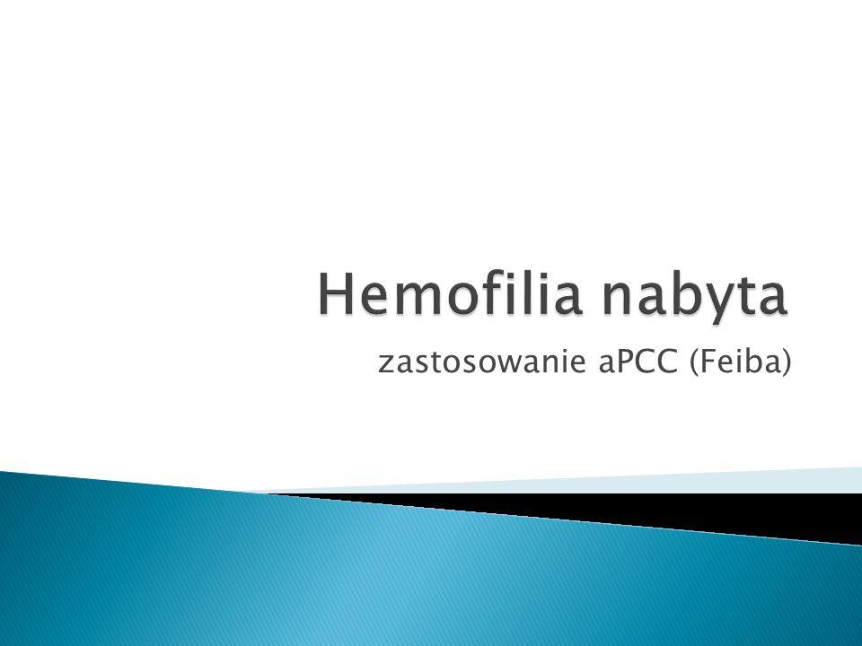 zastosowanie aPCC (Feiba)