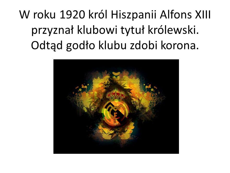 W roku 1920 król Hiszpanii Alfons XIII przyznał klubowi tytuł królewski. Odtąd godło klubu zdobi korona.