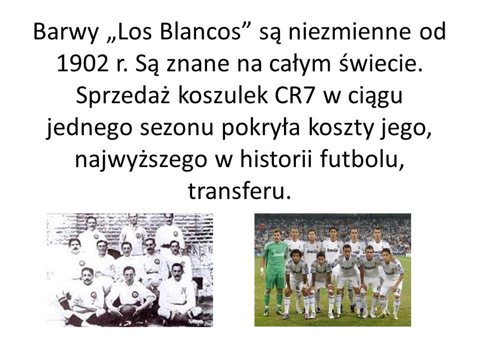 """Barwy """"Los Blancos"""" są niezmienne od 1902 r. Są znane na całym świecie. Sprzedaż koszulek CR7 w ciągu jednego sezonu pokryła koszty jego, najwyższego"""