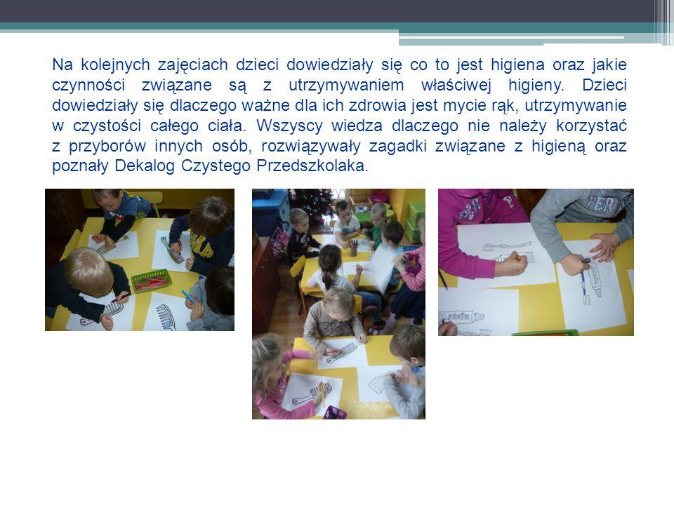 Kolejne zajęcia uświadomiły dzieciom jak ważna jest higiena otoczenia, dbanie o porządek i czystość wokół nas.