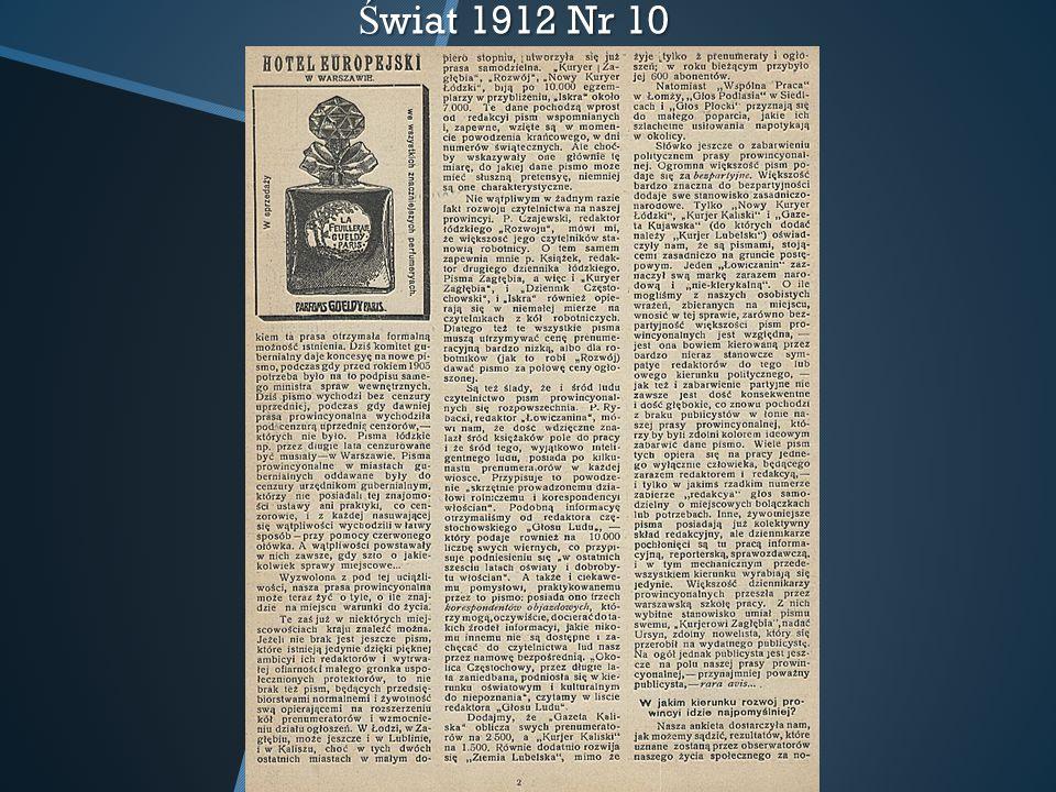 Ś wiat 1912 Nr 10