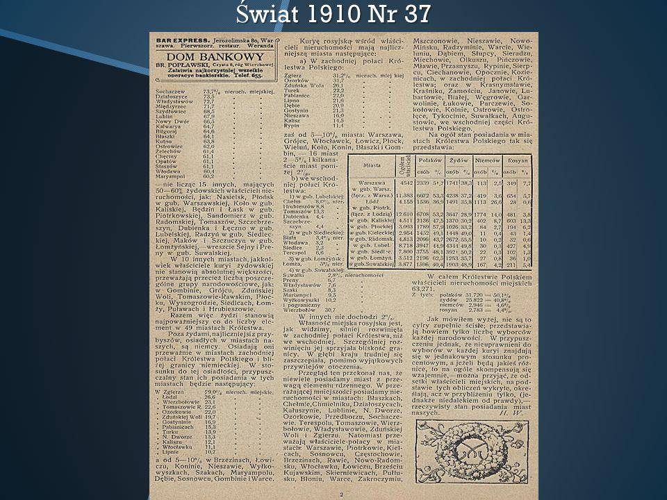 Ś wiat 1910 Nr 37
