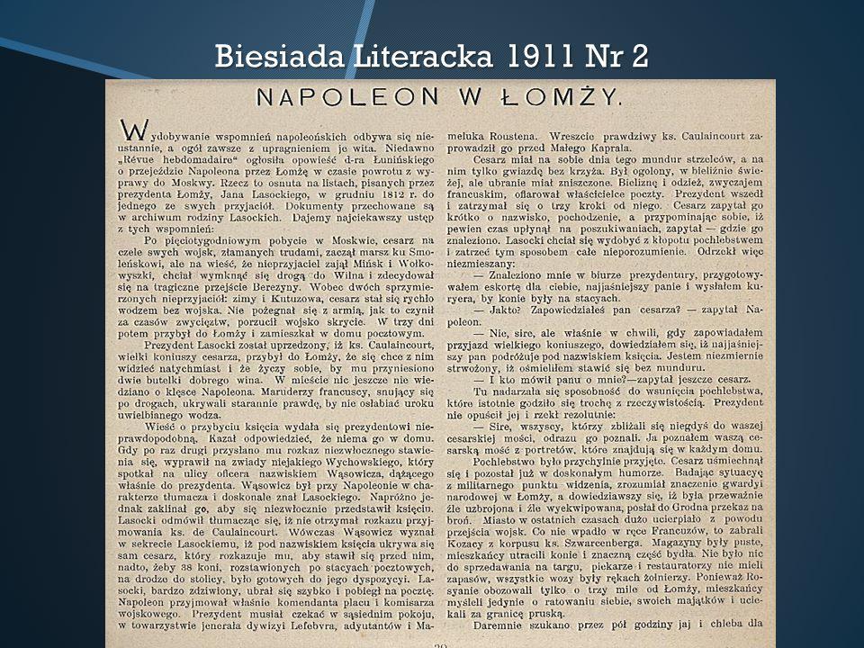Biesiada Literacka 1911 Nr 2