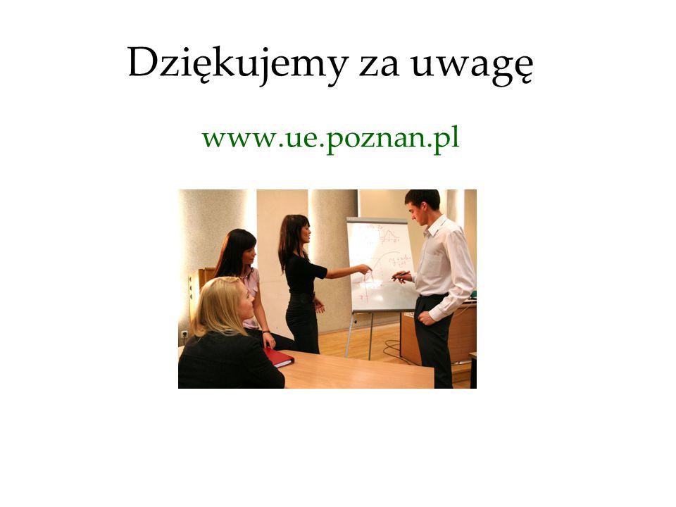 Dziękujemy za uwagę www.ue.poznan.pl