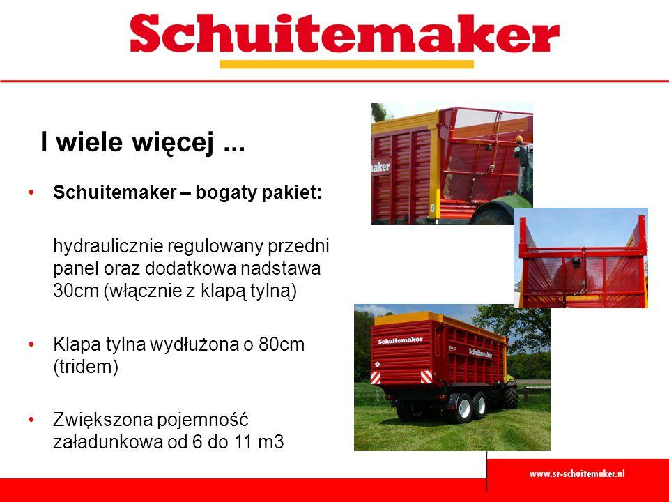 www.sr-schuitemaker.nl I wiele więcej... Schuitemaker – bogaty pakiet: hydraulicznie regulowany przedni panel oraz dodatkowa nadstawa 30cm (włącznie z