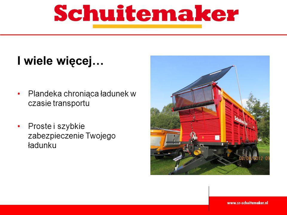 www.sr-schuitemaker.nl I wiele więcej… Plandeka chroniąca ładunek w czasie transportu Proste i szybkie zabezpieczenie Twojego ładunku
