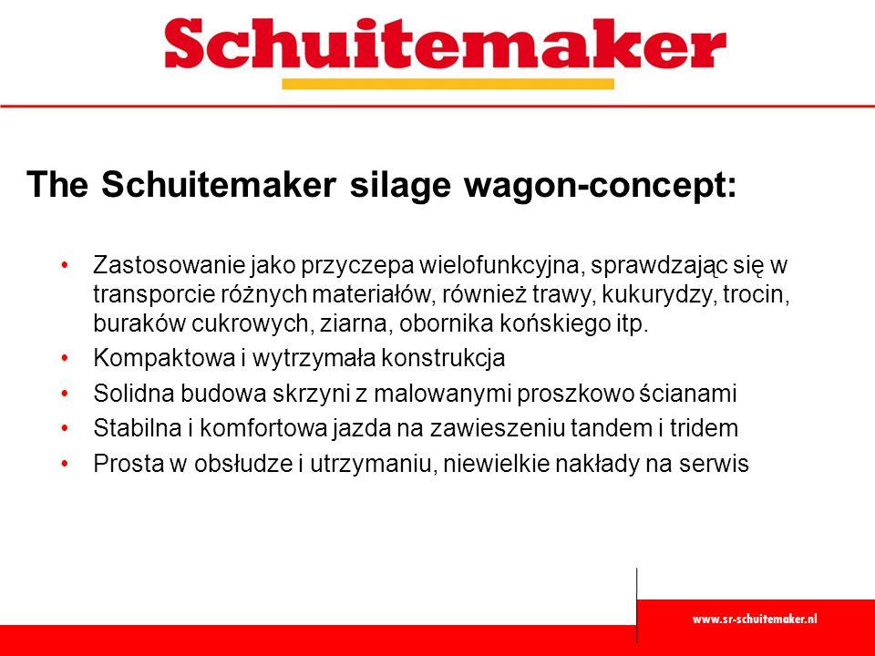 www.sr-schuitemaker.nl The Schuitemaker silage wagon-concept: Zastosowanie jako przyczepa wielofunkcyjna, sprawdzając się w transporcie różnych materi