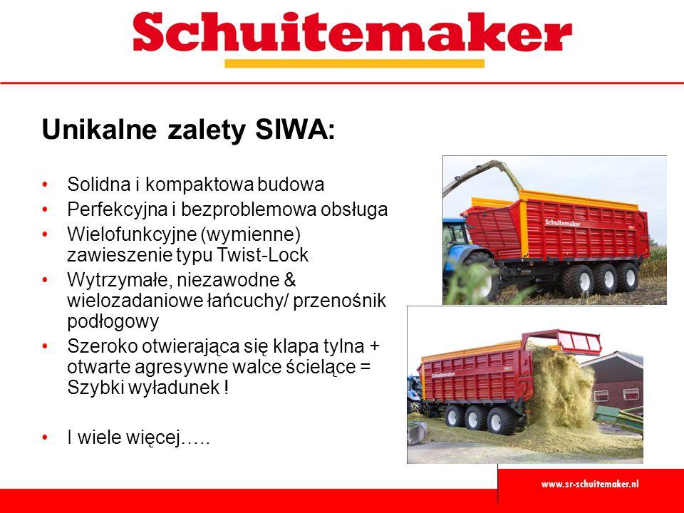 www.sr-schuitemaker.nl Unikalne zalety SIWA: Solidna i kompaktowa budowa Perfekcyjna i bezproblemowa obsługa Wielofunkcyjne (wymienne) zawieszenie typ