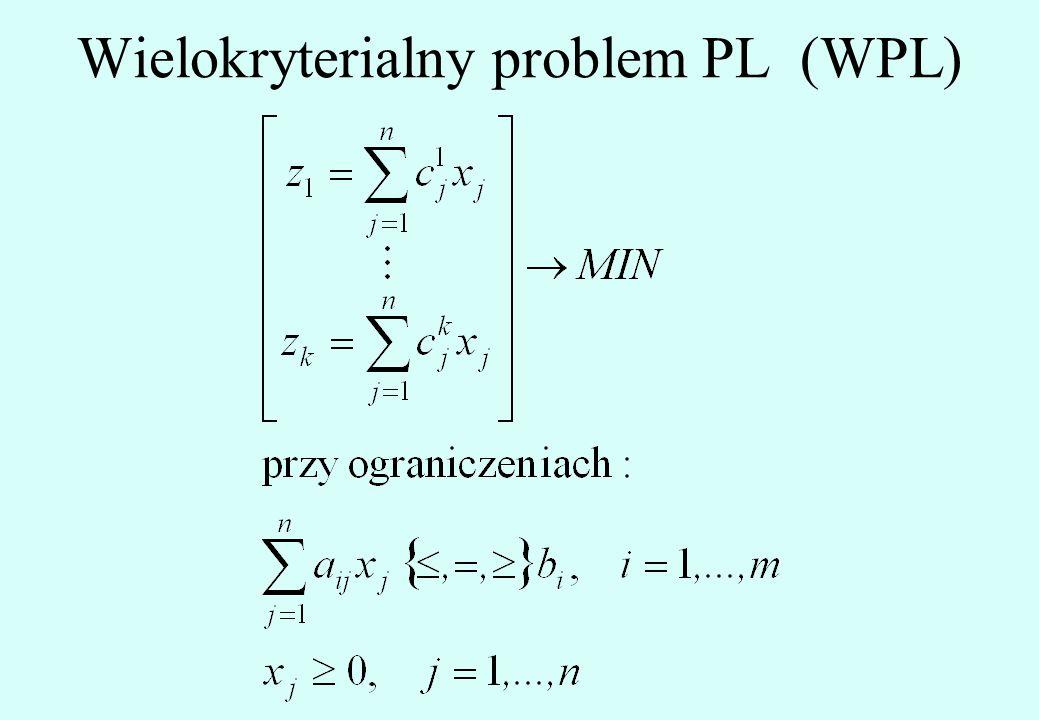 Wielokryterialny problem PL (WPL)